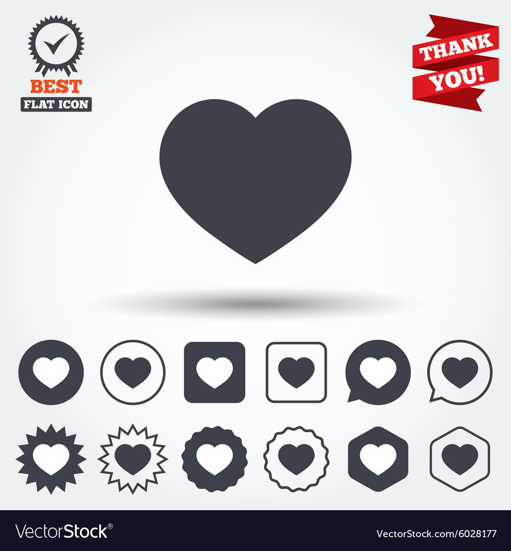 Love icon heart sign symbol vector