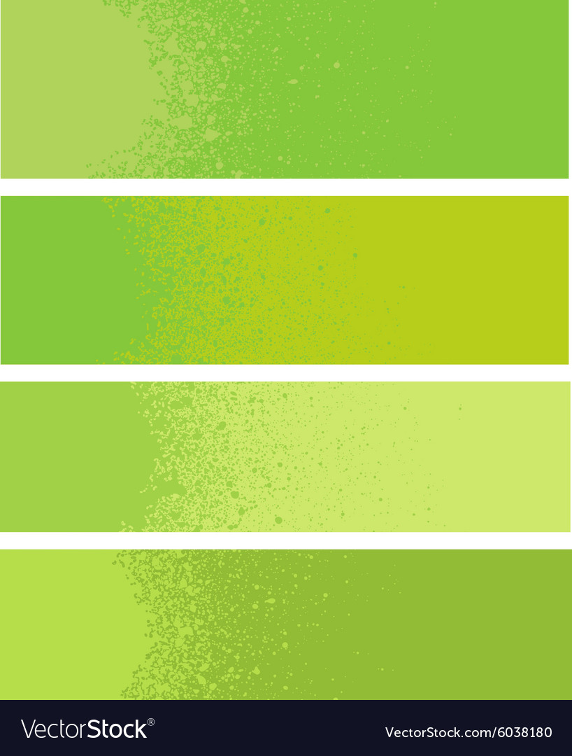 Spray paint gradient detail in green yellow vector