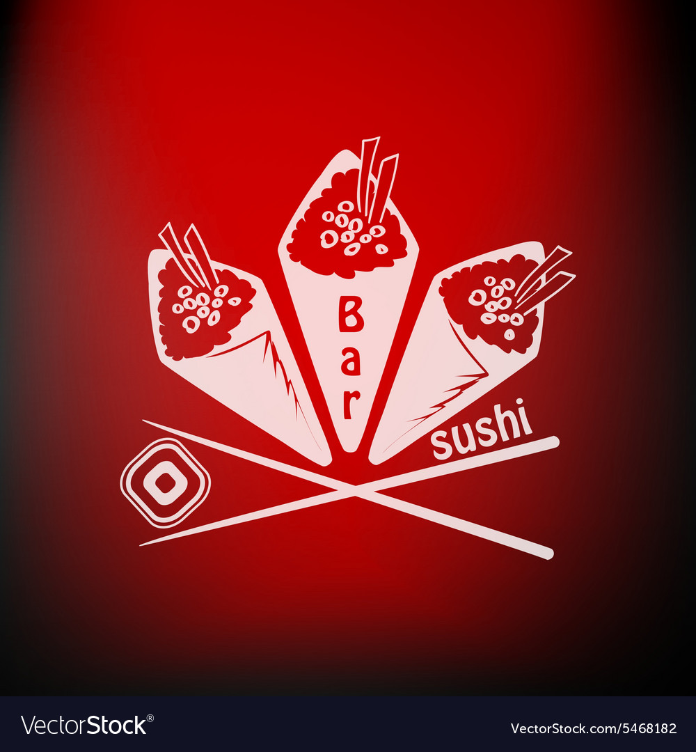 Sushi label vector