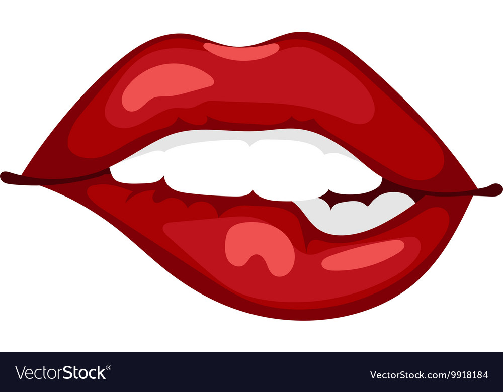Female lips isolated vector