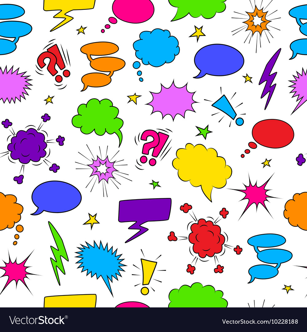 Comics seamless background from speech bubbles vector