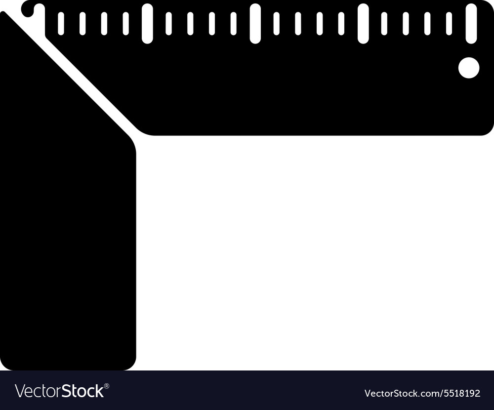Setsquare icon building square symbol flat vector