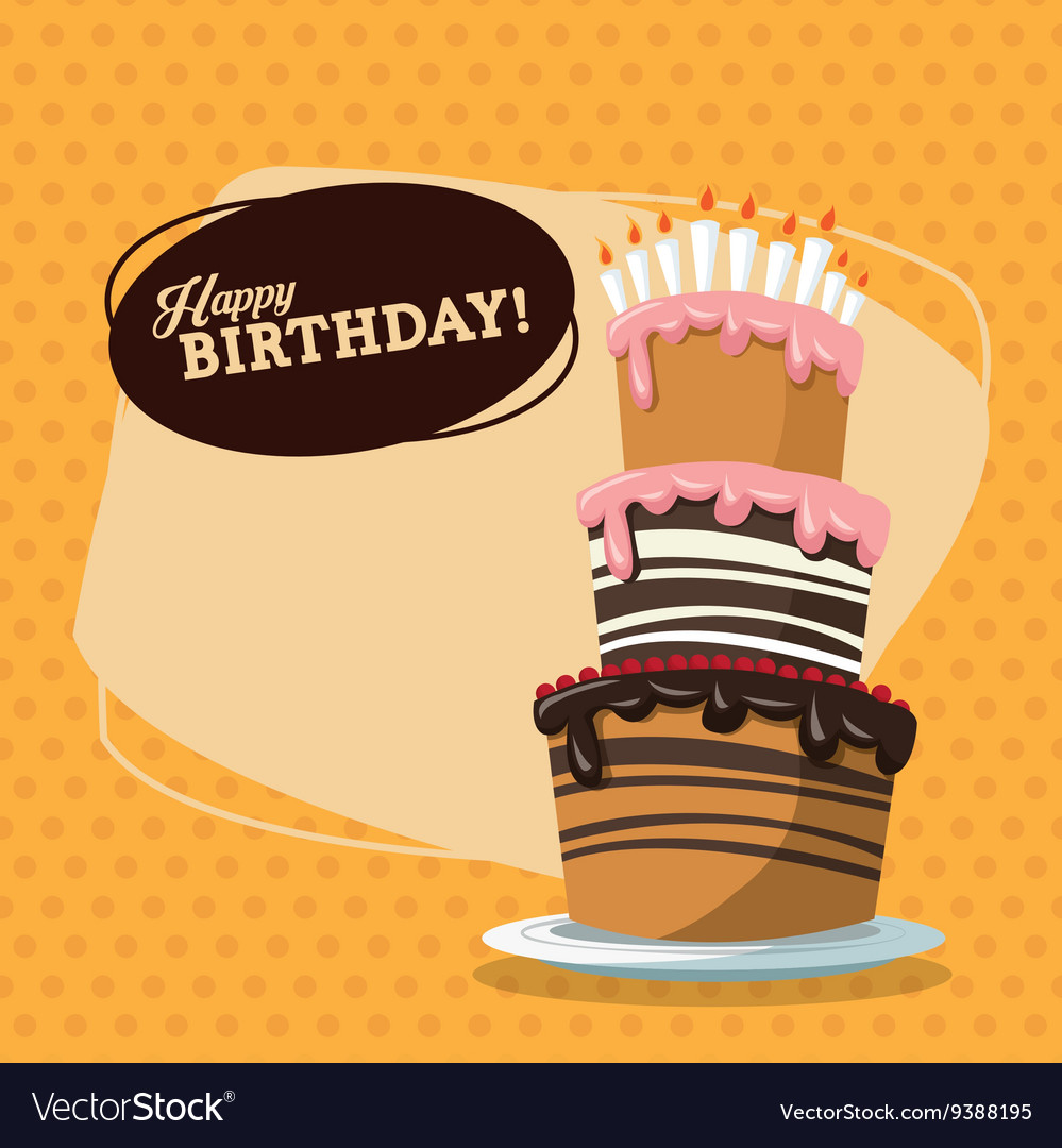 Happy birthday design retro vector