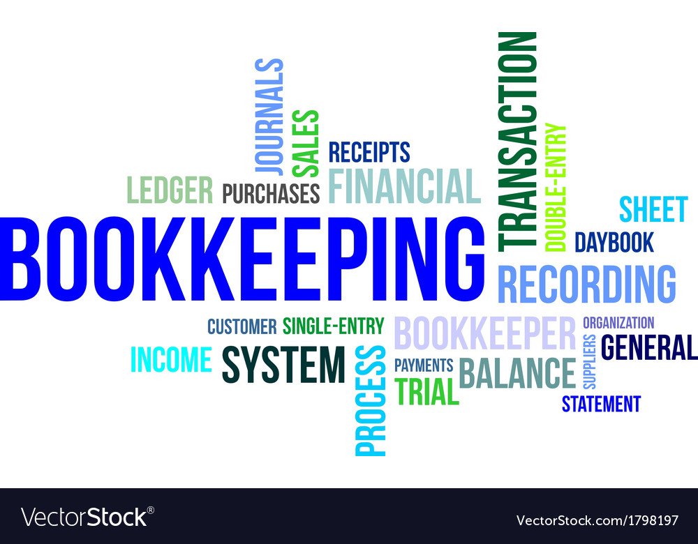 Word cloud bookkeeping vector