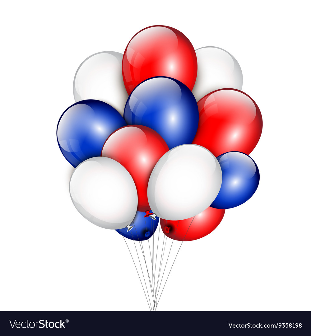 Background with party balloons and place for your vector