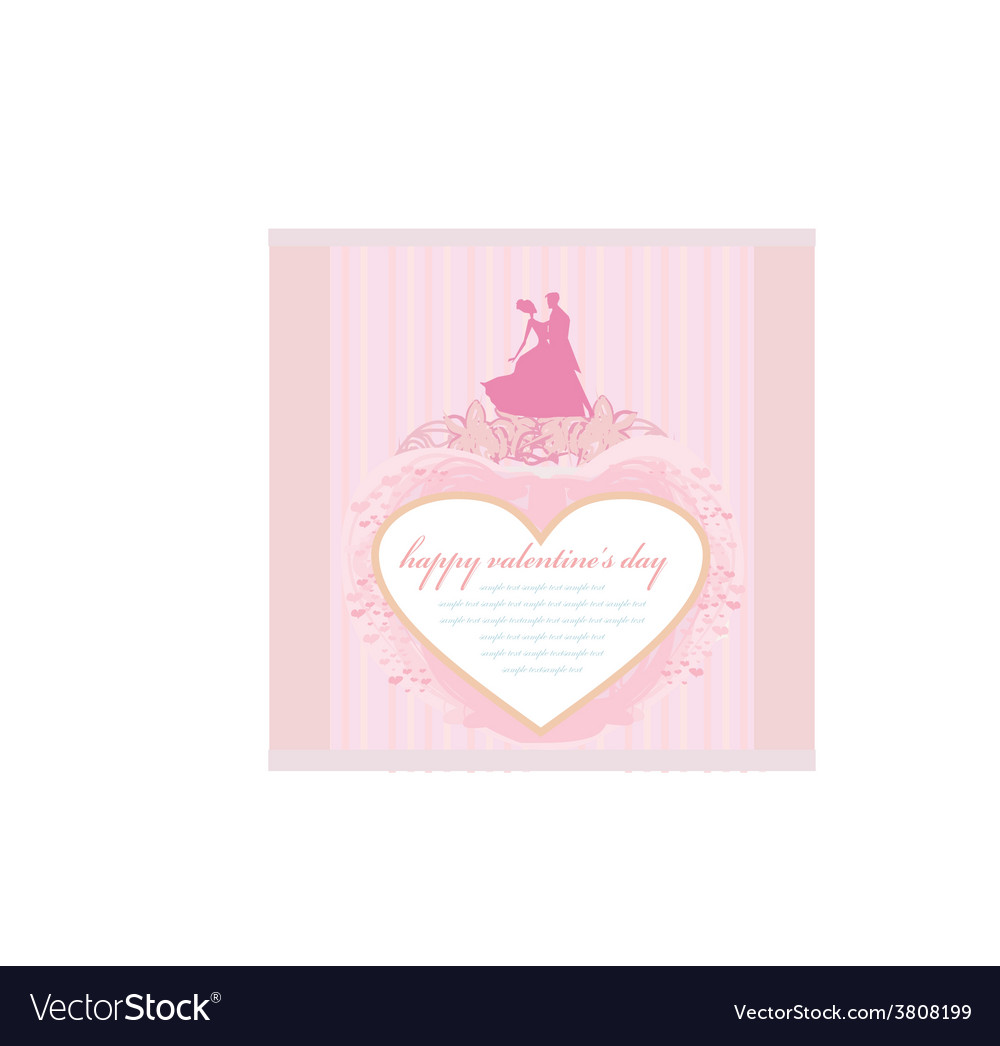 Ballroom wedding dancers silhouette  invitation vector