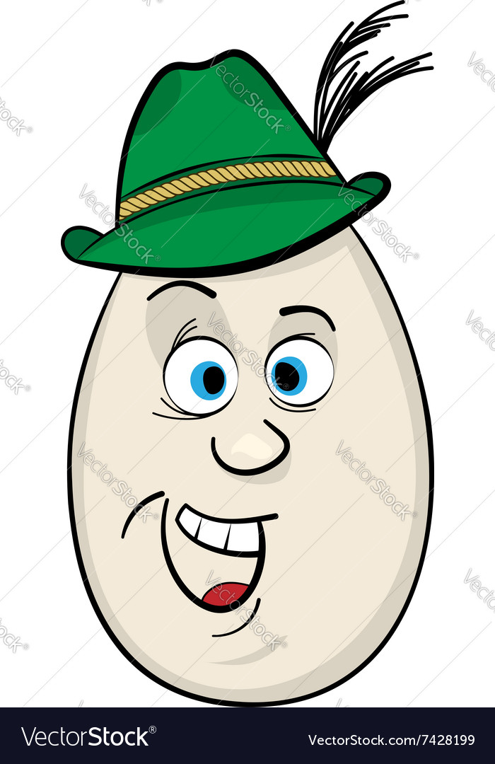 Cartoon egg face character vector