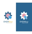 gear and click logo combination Industrial vector image