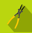 metal welder pliers icon flat style vector image