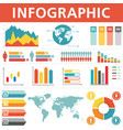 demographic infographics set vector image vector image