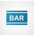 sign bar blue vector image