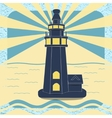 Poster with the lighthouse in vintage style vector image