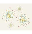 Fireworks design on a light background vector image