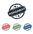 Round Ashgabat city stamp set vector image