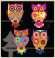 owl night shcool vector image