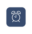 alarm clock icon flat design vector image