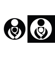 Babywearing Symbols Set With Parent vector image