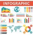 demographic infographics set vector image
