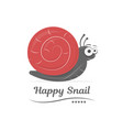 happy snail isolated on white background cartoon vector image