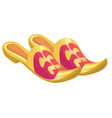 home shoes with sharp noses isolated on a white vector image