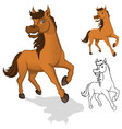Horse Cartoon Character vector image