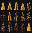 luxury rich decorative golden christmas vector image