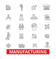 Manufacturing production factory plant vector image