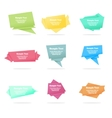 Set of quote abstract geometric origami vector image