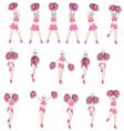 Animation dance cheerleader vector image