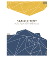 Abstract colorful polygonal background Template vector image