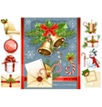 Big collection of Christmas objects vector image vector image