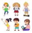 Cute cartoon children smart device vector image