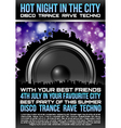 Disco Theme with speaker vector image vector image