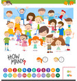 cartoon game of counting children vector image