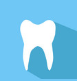 white tooth vector image