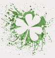 shamrock for St Patricks Day with green vector image