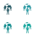 Set of stylish sticker on paper Businessmen and vector image