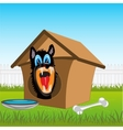 Dog in kennel vector image