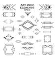Art Deco Vintage Frames and Design Elements vector image