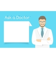 Ask a Doctor Information banner vector image