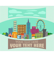 Cartoon city view flat background vector image