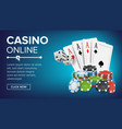 casino poker design success winner royal vector image