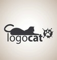 cat logo 5 vector image