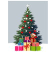 Christmas Tree Presents vector image