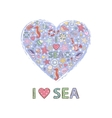 Heart sea vector image