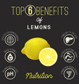 lemons beans benefits vector image