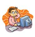 man working stress vector image