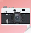 Old photo camera for logotype or icon with vector image