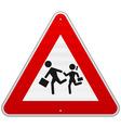 Pedestrian Danger Sign vector image