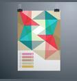 poster minimal design template business geometric vector image